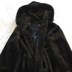 Brown Fur Coat Size L